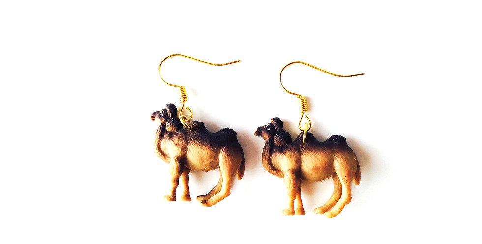 Boucles d'oreilles JE BOSSE !! chameaux miniatures