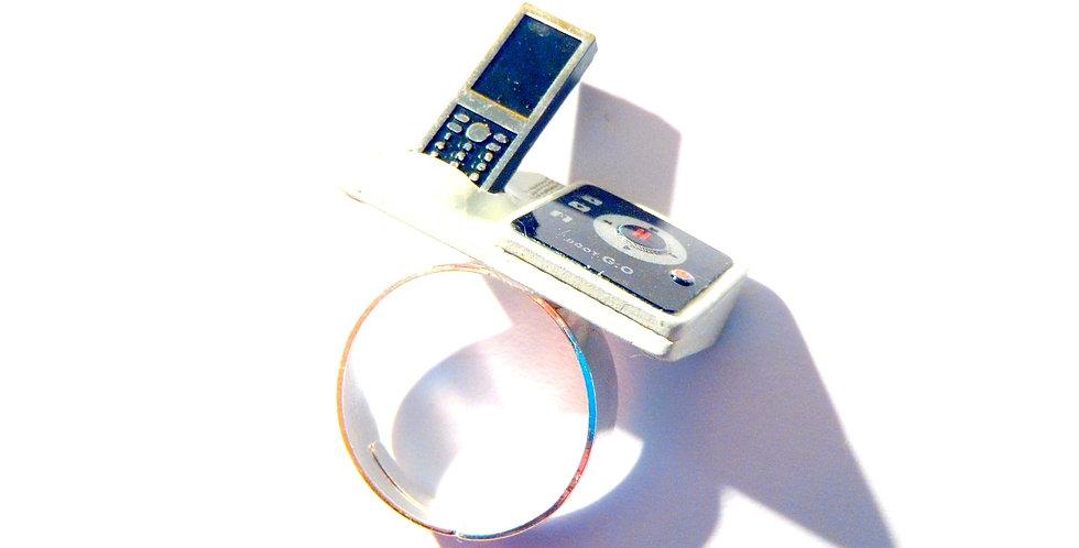 Bague LE TÉLÉPHONE SANS FIL, miniature, ajustable