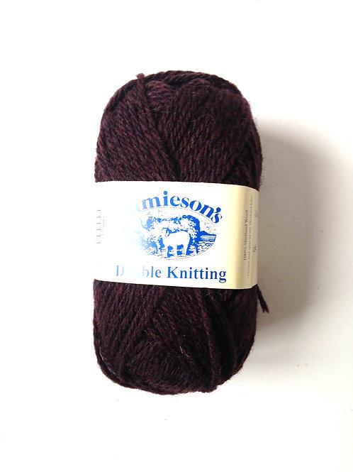 Pelote de laine 100% SHETLAND, double knitting, chocolat