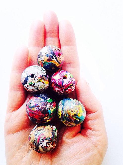 Perles polymères Mille Couleurs. Lot de 6