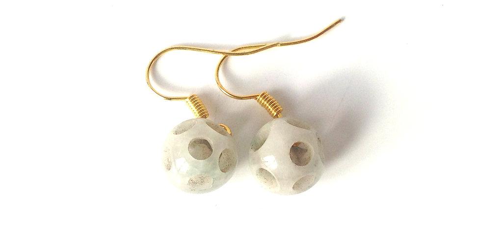 Boucles d'oreilles CHIN LONE, en jade sculptée