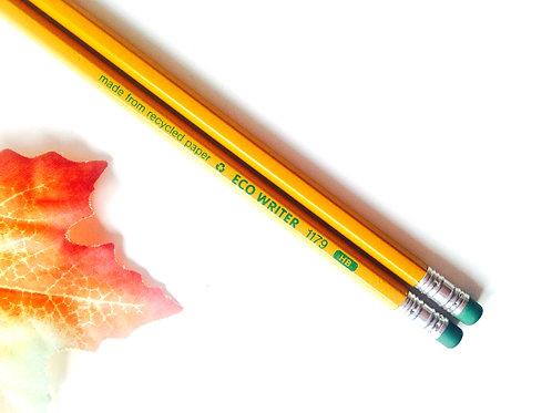 Crayons de papier, pour dessin, lot de 2 crayons HB, recyclage