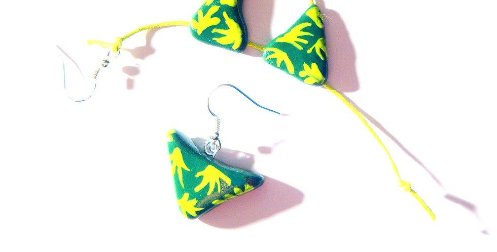 Boucles d'oreilles LE BIKINI, miniature, vert