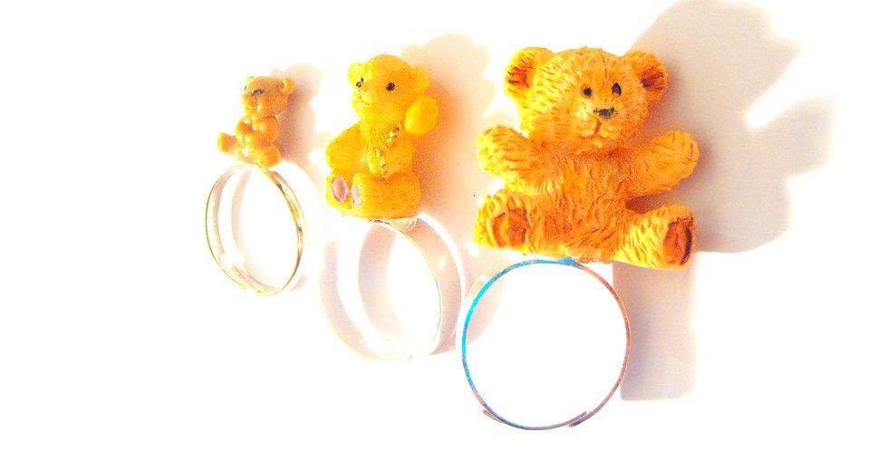 Bague multiple BOUCLE D'OR, et les trois ours, miniatures