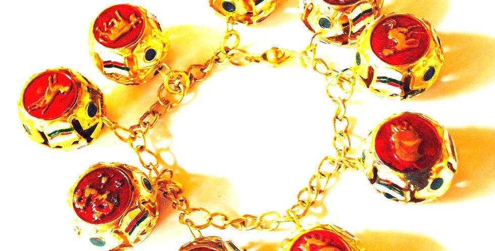 Bracelet THAÏ, charms grelots de Bangkok Chinatown