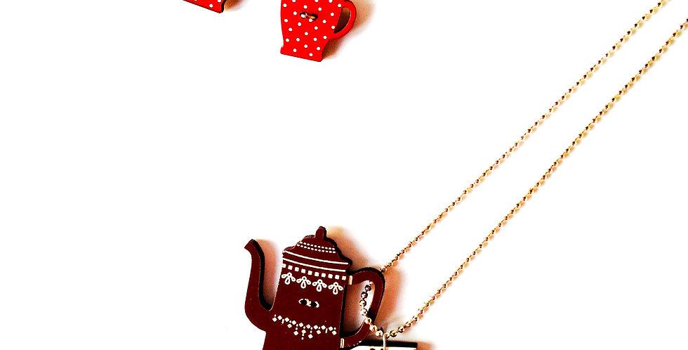 Parure TEA TIME, tasses et thé!ère