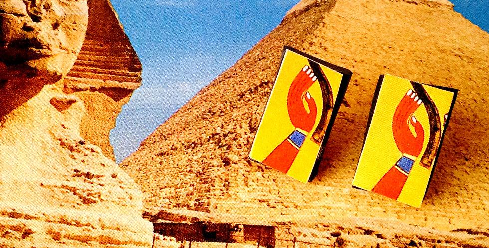 Puces d'oreilles ABU SIMBEL, Egypte ancienne, rectangulaires