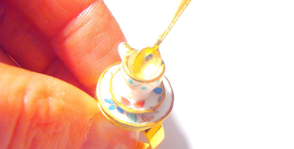 Bague LE THÉ DU TSAR, tasse miniature