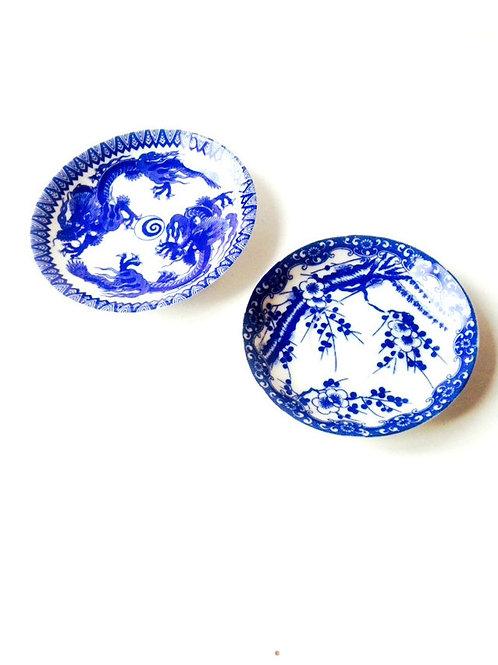 Coupelles Japonaises vintage en porcelaine ultra fine