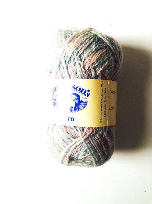 Pelote de laine 100% SHETLAND, Ultra, chiné gris rose