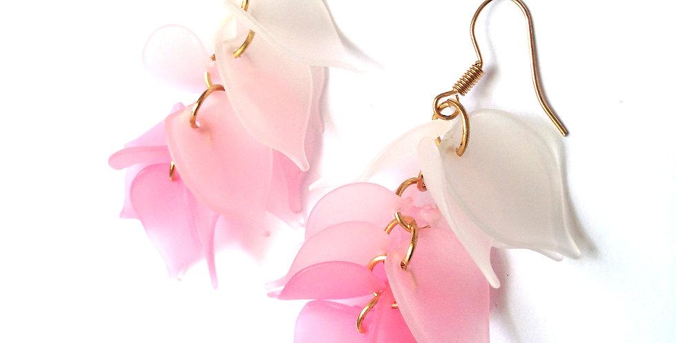 Boucles d'oreilles CASCADE ROSE, dégradé