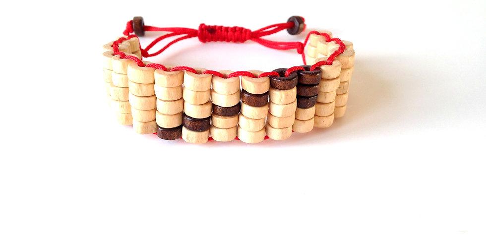 Bracelet BIRMAN, en bois et fil