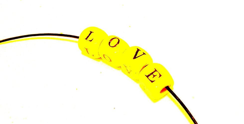 Collier à nouer LOVE