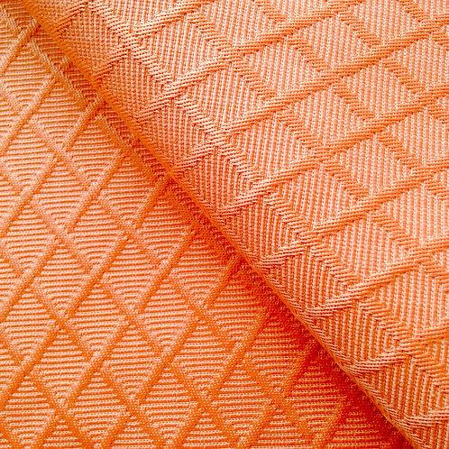 Tissu - Coupon de toile abricot, à croisillons 140 x 60 cm