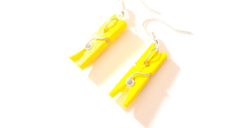 Boucles d'oreilles PINCE MI, jaunes