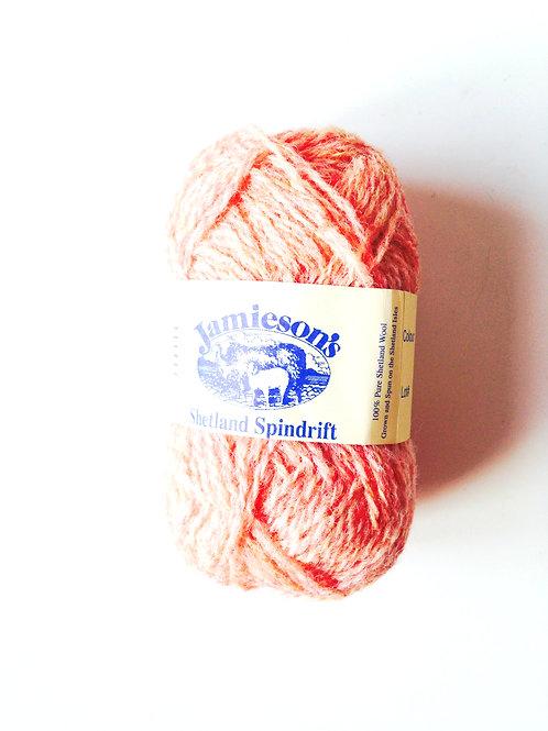Pelote de laine 100% SHETLAND, spindrift (fil fin), SUNGLOW chiné