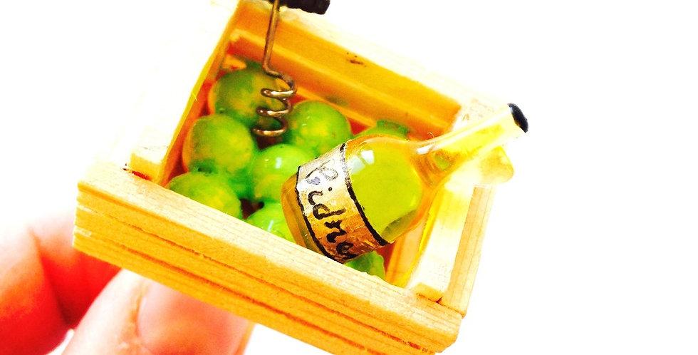 Bague LA FABRICATION DU CIDRE, cagette miniature