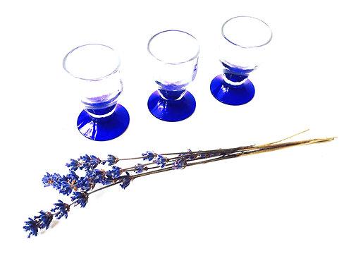 Verres à liqueur, cristallerie de Portieux, lot de 3