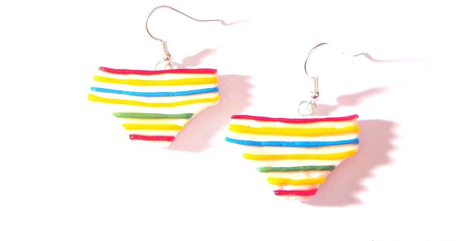 Boucles d'oreilles PETIT VÉHICULE, culottes miniatures