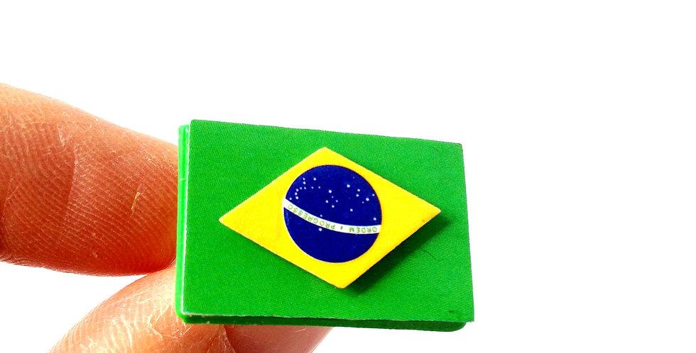 Bague BRÉSILIENNE, drapeau du Brésil