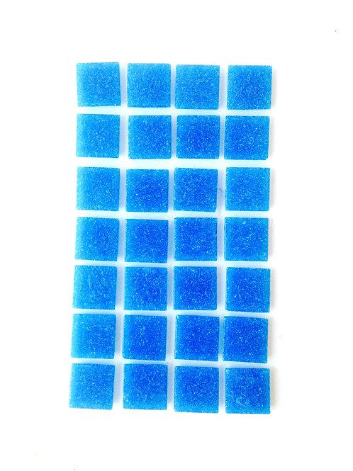 Tesselles de Mosaïque pâte de verre 2 x 2 cm bleues, 80 grs