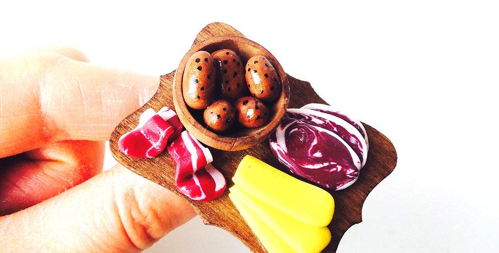 Bague LA RACLETTE AUTHENTIQUE, nourriture miniature, bague ajustable