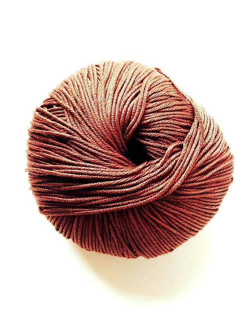 1 pelote de fil de coton mercerisé ELBA marron pour tricot, crochet, etc