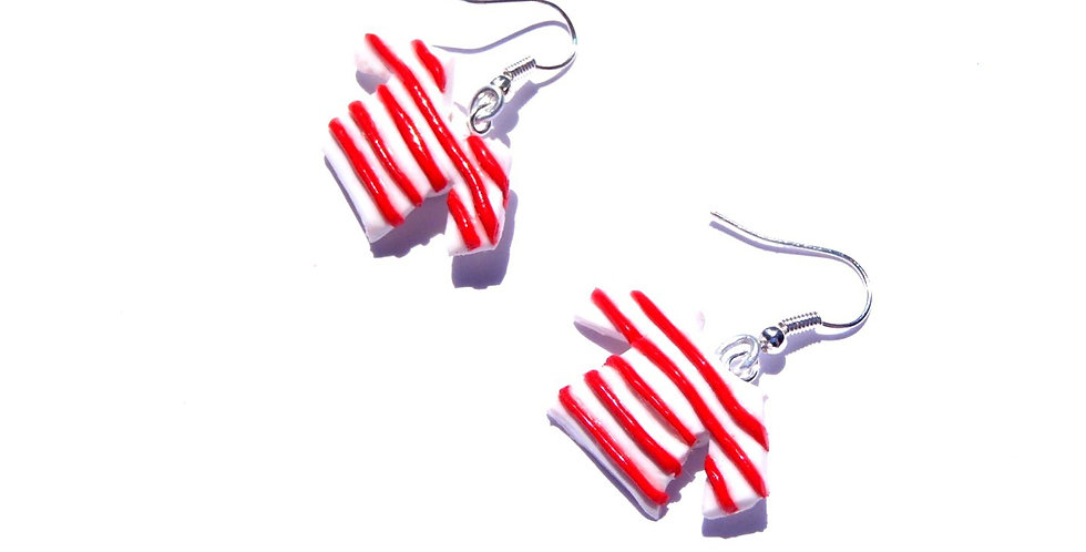 Boucles d'oreilles MARINIÈRES, ROUGES, miniatures