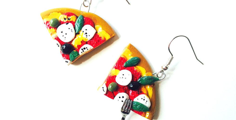 Boucles d'oreilles PARTS DE PIZZA,
