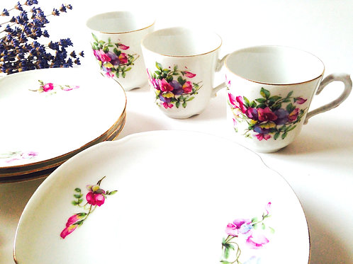 Tasses anciennes Limoges Malbec / Antique Teacups Limoges Malbec