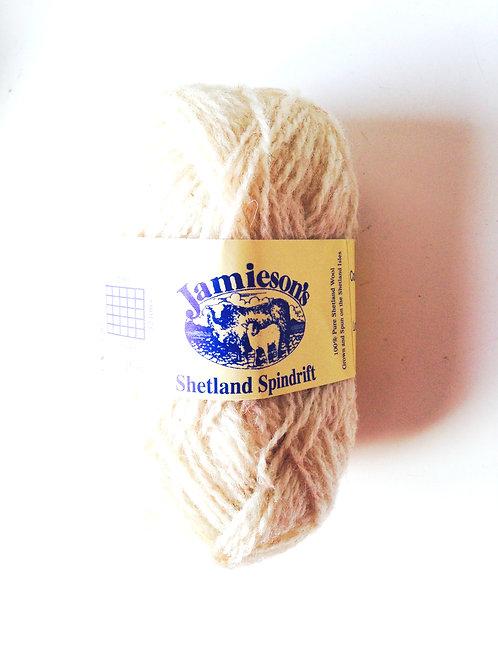 Pelote de laine 100% SHETLAND, spindrift (fil fin), IVORY chiné (IVOIRE)