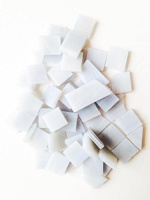 Tesselles de Mosaïque verre 1x1 cm gris clair 40 grs
