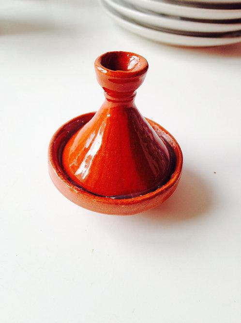 Tajine miniature, en terre cuite, vernie