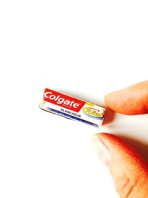Dentifrice miniature, carton ne s'ouvre pas, miniature 1:12 faite main