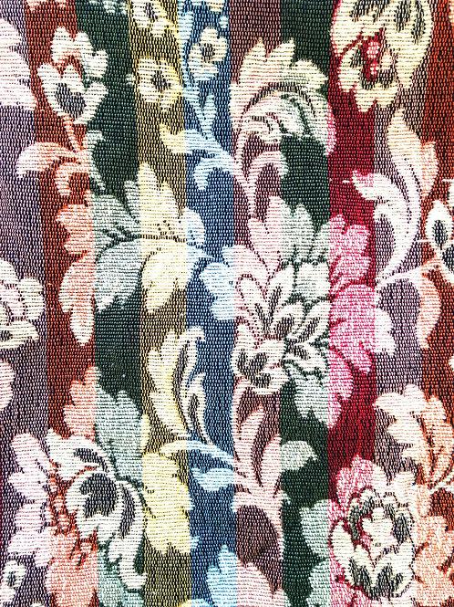 Coupon de tissu de récupération, pour couture ou tapisserie, motifs floraux