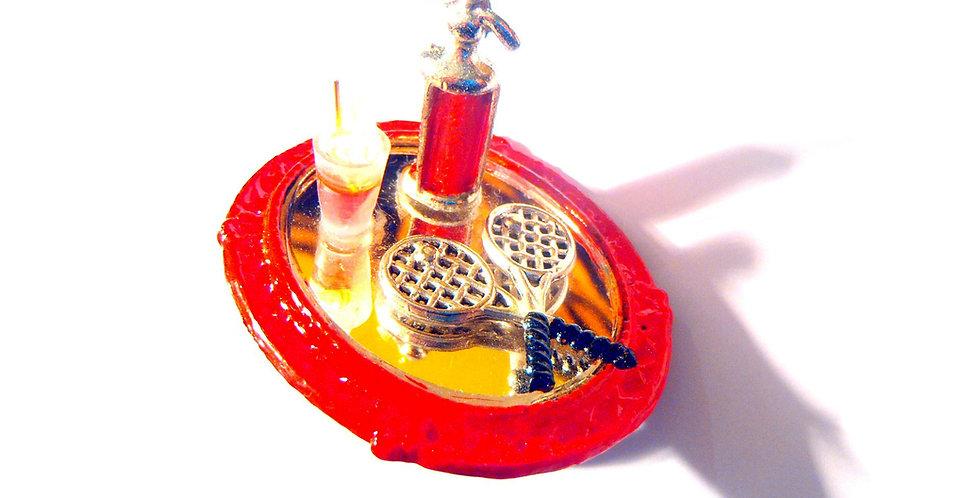 Bague L'APRÈS-MIDI AU CLUB, tennis raquettes miniatures & cocktails