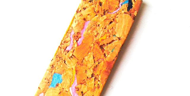 Sautoir RUBAN DE LIÈGE, pendentif rectangulaire