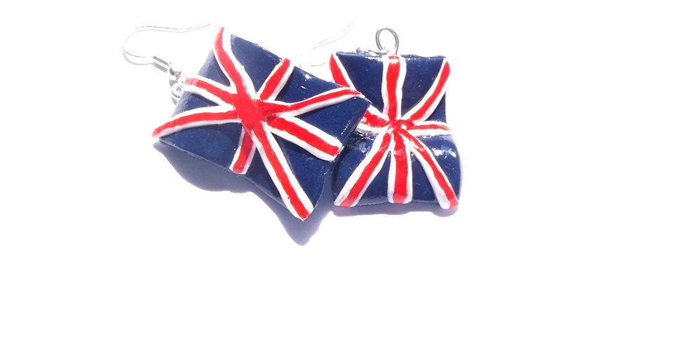 Boucles d'oreilles UNION JACK drapeau anglais