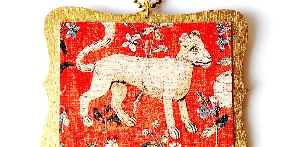Sautoir LE LION, chaîne bronze, de la Dame à la Licorne