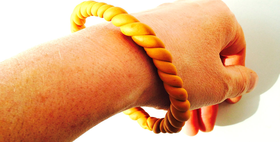 Bracelet Bangle MOUTARDE, fait main