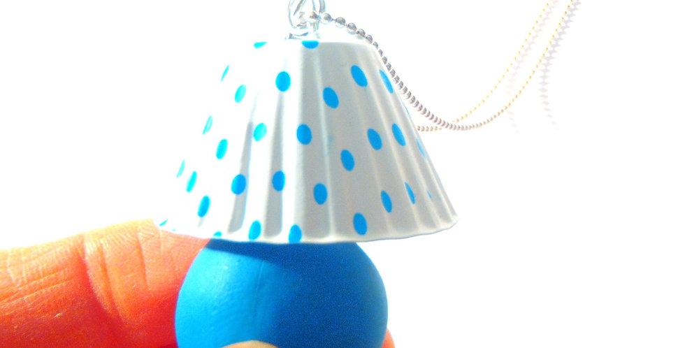 Sautoir LA P'TITE LAMPE BLEUE, miniature