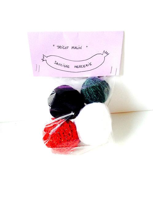 4 pelotes Tricot malin, assortiment de petites pelotes pour tricot / crochet
