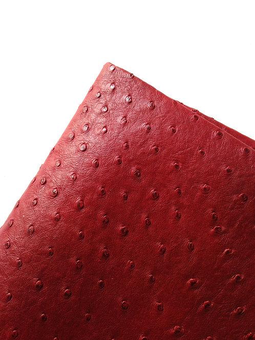 Cuir d'autruche, morceau de skaï / simili cuir d'autruche bordeaux 47 x 43 x 35