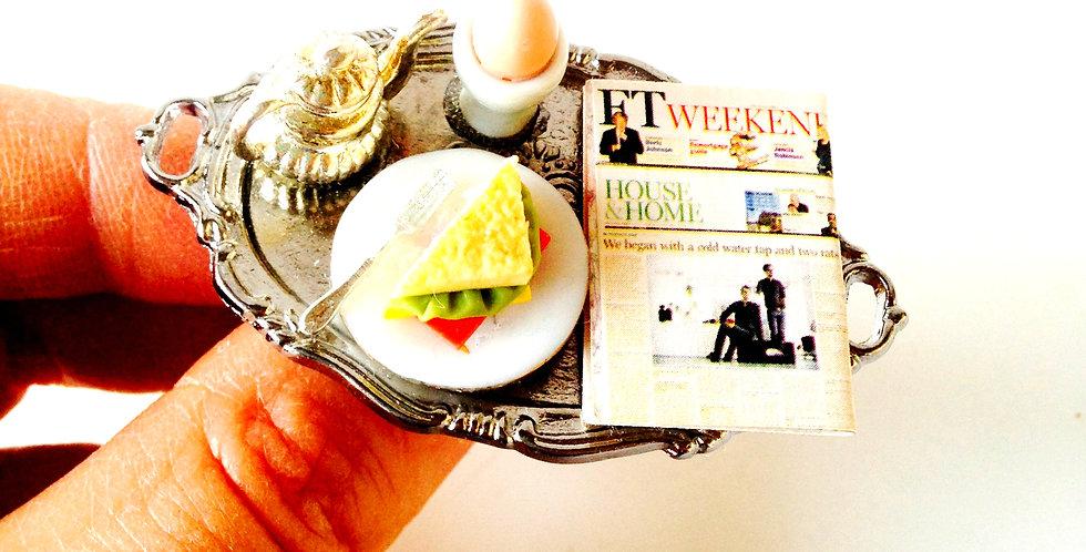 Bague LE WEEKEND AUX HAMPTONS, petit-déjeuner miniature, luxe