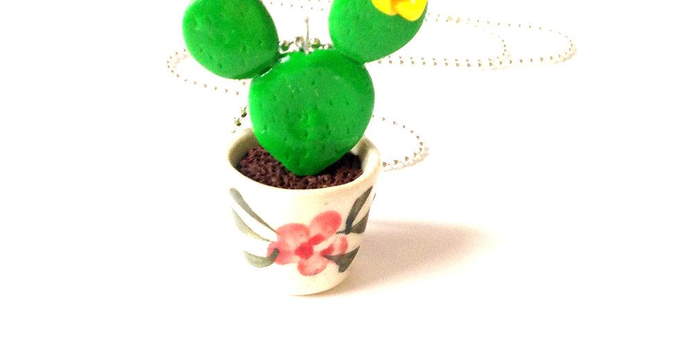 Sautoir LE P'TIT CACTUS À OREILLES, miniature, en pot