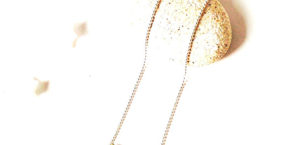 Sautoir ISBA, design doré argenté