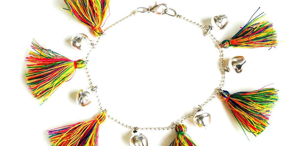 Bracelet POMPONS FLUOS, mini grelots