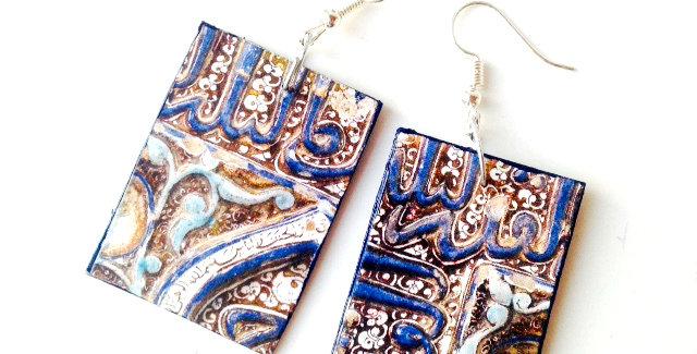 Boucles ESSAOUIRA, carton motif bleu