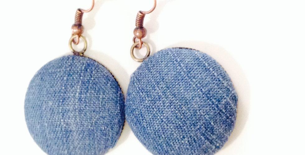 Boucles d'oreilles en JEAN, médaillon bronze