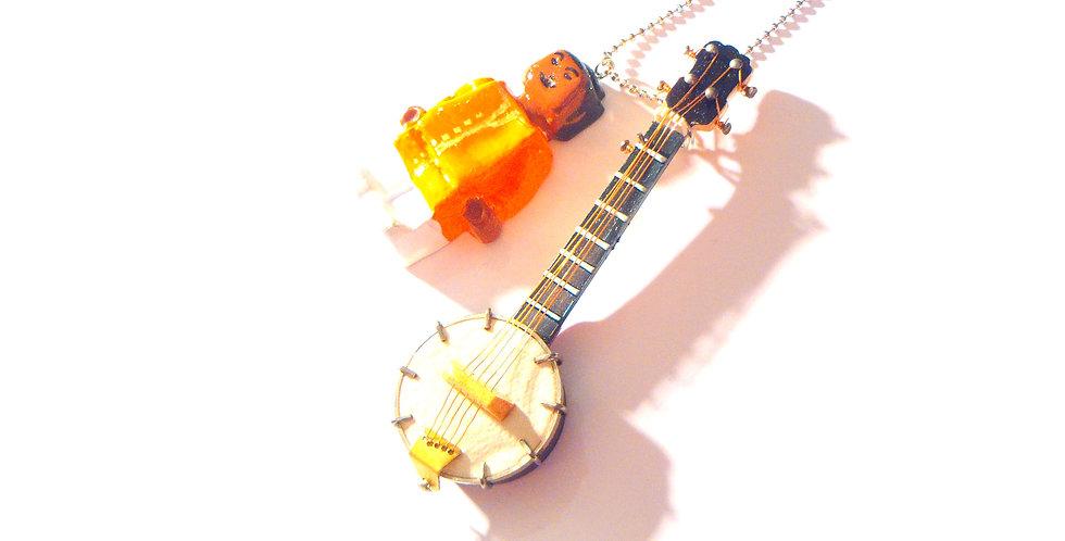 Sautoir PROLÉGOMÈNE Ravi Shankar, sitar miniature